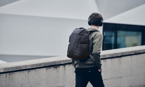 都市新秀,耳机族必备——Wenger威戈德莱蒙系列商务双肩背包全新上市